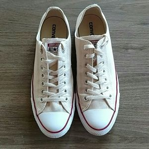Converse All Star Cream Canvas Lowtop Sneakers